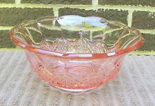 Vintage Pink Pressed Cut Glass Serving Bowl--depression?