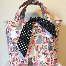 Cat Print Fabric Bag