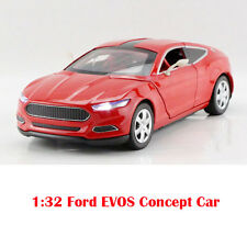 Red 1:32 Scale Ford EVOS Concept Car Diecast Model Sound & Light Pullback 1/32