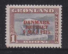 Greenland Scott # 25 Vf-Og-Mnh nice color cv $ 180 ! see pic !