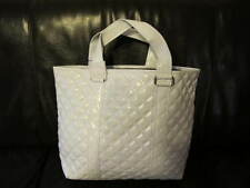 AUTH NEW MARC JACOBS QUILT WHITE FAUX LEATHER TOTEBAG