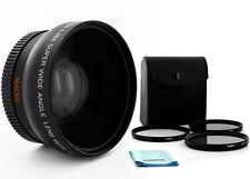 HD Wide Angle Lens W/ Macro, Filters fo Canon Vixia HF R72 R700 R70 R600 R62 R60