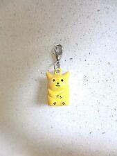 NEW 3D Pokemon Pikachu Clip on Pet Cat Collar Jewellery  BELL INSIDE CHARM