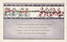 CHRISTMAS, C-150147 -- NIMBLE NICKS in Tug of War, 1921 postcard