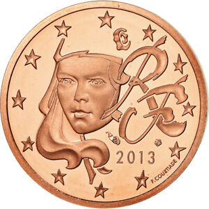 [#487652] France, 2 Euro Cent, 2013, Proof, FDC, Copper Plated Steel, KM:1283
