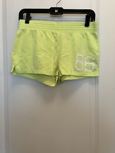 Victorias Secret PINK '86' Neon Yellow Shorts XS - Rare