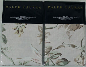 RALPH LAUREN Annandale KING Shams LINDSLEY Blush Set of 2 Two NEW NWT $260