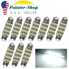 10x 42MM LED 12SMD White Courtesy Interior Light Bulb Festoon Dome Lamp 6000K