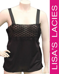 Lisa's Lacies - Diana Lace Trim Cami Plus Size - Sizes 16-36