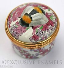 Halcyon Days Enamels Honeybee Bee Sculptured Bonbonniere Enamel Box