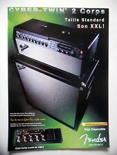 PUBLICITE-ADVERTISING :  Amplis FENDER Cyber-Twin  08/2002