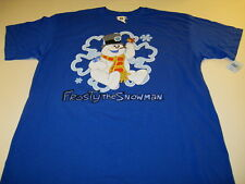 FROSTY THE SNOWMAN Wearing Flowered Top Hat w/ Pipe CHRISTMAS T-Shirt New NWT XL