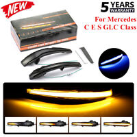 Dynamic Side Mirror Sequential Blink Turn Signal Light For Mercedes C E S Class+