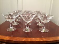 Set 12 Vintage WATERFORD CRYSTAL Kenmare Champagne Sherbet Glasses w/ Stickers