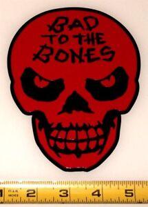 "Bad To The Bones Skull! High Quality, High Gloss 4.5"" x 6.0"" Vinyl Decal!"