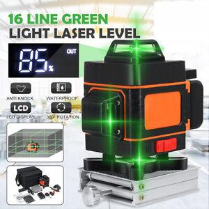 16 Linien 4D Green Laser Level Horizontale Vertikale Kreuz Linien Laser Level DE