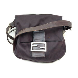Fendi Shoulder Bag Mamma Browns Nylon 2201725