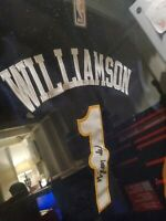 Destine to be one of the greatest players Zion Williamson AUTOGRAPHED JERSEY COA