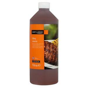 5 x Chef's Larder BBQ Sauce 1 Litre Delicious ** CHEAPEST SALE ** (Get 1 Free)