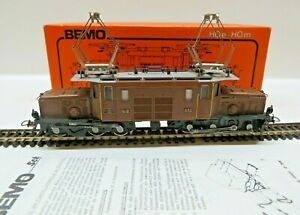Bemo 1255 H0m Locomotive Ge 6/6 I Crocodile 413 D. Rhb EP 4 Tested Boxed
