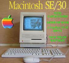  GREAT 1991 Apple Macintosh Mac se/30 68mb RAM, 1gb SCSI, New Capacitors, MORE