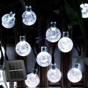 50 LED Solar String Lights Outdoor Garden Yard Decor Lamp Waterproof Ball Light
