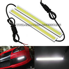 2pcs White DC 12V LED Strip Daytime Running Light DRL Car Fog Day Driving Lamp
