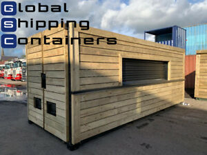 20ft x 8ft Cladded Shipping Container Shop - 3 PHASE ELECTRICS
