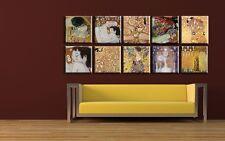 "TIME4ART GUSTAV KLIMT CANVAS PRINT ART WALL GICLEE SET 10 PCS 12""x12'' POSTER"