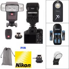 Speedlight Flash + 2.4G TRIGGER + RECHARGEABLE BATTERIES FOR NIKON D5200 D5300