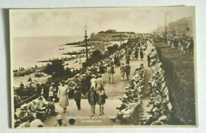 Central Parade and Wish Tower Eastbourne-Real Photo-Vintage Postcard
