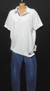 Superdry white polo tee shirt, sz. 12/M, No. 1 International