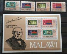 1979 Malawi Full Set Of 4 Stamps & Souvenir Sheet - Sir Rowland Hill - MNH