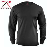 Long Sleeve T-Shirt Tactical Military Solid Black, Olive Drab & CBrown Rothco