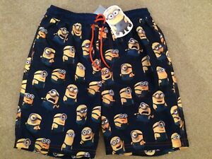 NWT NEXT DESPICABLE ME MINION SWIM SHORTS - 11 YEARS
