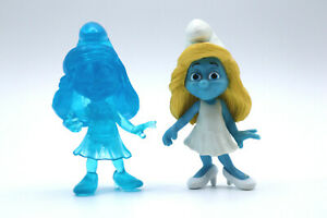 2013 The Smurfs Movie Smurfette Lot, Toys R Us Exclusive Jakks Jointed Figures