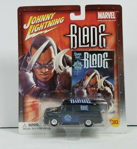 Johnny Lightning Marvel #30 Comics Blade 1955 Black Ford Panel Van Diecast 2003