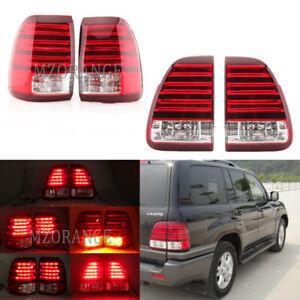 Set LED Rear Brake Lamps Tail Lights For Lexus LX470 1998 1999 2000 2001 2002