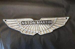 ASTON Martin polished cast Aluminium wings Small Sign 30 cm LOGO