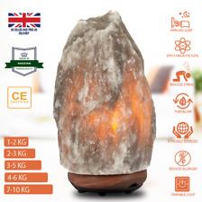 Natural Himalayan Salt Lamp GREY Crystal Salt Night Desk Lamp UK CE Plug Cable