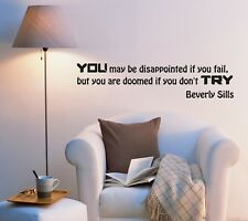 Wall Decal Motivation Help of Succeed Famous Words Wise Vinyl Sticker (ed1059)