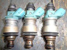 3 used OEM Toyota Lexus Fuel Injector Fed. emissions 23250-20010