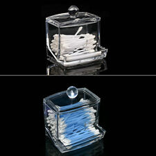 Clear Acrylic Cotton Swab Organizer Box Cosmetic Holder Q-tip Makeup Storage OE