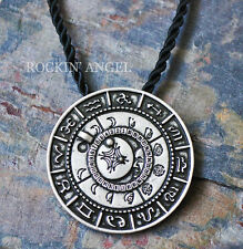 Fase de plata antigua Talismán Colgante Collar PLT Lunar Luna Pagano Wiccan Regalo