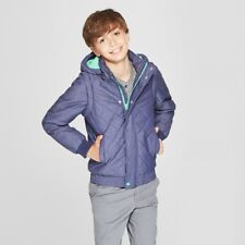 Boys' Quilted Jacket - Cat & Jack Navy Small (6/7)