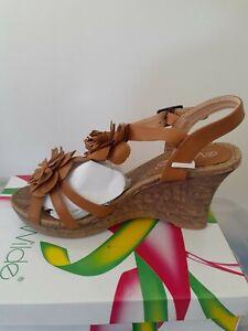 Wilde Wedge Heel Sandals Starling Size 39