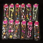 Wholesale Lot Cute Girl Pink Heart Wood Beads Kids Necklace Bracelet Jewelry Set