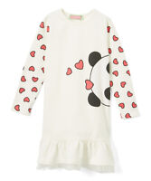 NWT Sophie & Sam Panda Girls Long Sleeve Peplum Sweatshirt Dress 2T 3T 4T