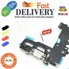 """For iPhone 7 4.7"""" Black Charging Port Flex Dock Connector with Microphone OEM"""
