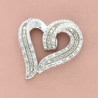 kay jewelers sterling silver pave diamond heart pendant